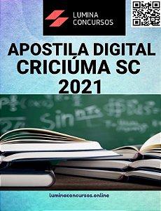 Apostila PREFEITURA DE CRICIÚMA SC 2021 Professor III Artes