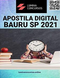 Apostila PREFEITURA DE BAURU SP 2021 Psicólogo