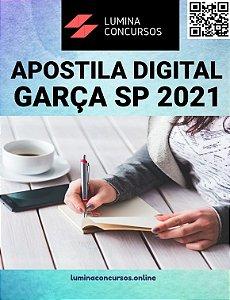 Apostila PREFEITURA DE GARÇA SP 2021 Fiscal