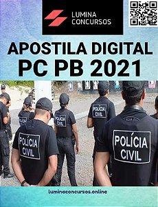 Apostila PC PB 2021 Escrivão de Polícia Civil