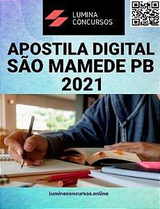Apostila PREFEITURA DE SÃO MAMEDE PB 2021 Professor De 6º Ao 9º Ano Educação Física