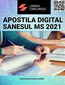 Apostila SANESUL MS 2021 Técnico em Edificações