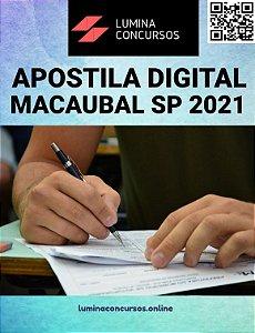 Apostila PREFEITURA DE MACAUBAL SP 2021 Médico Veterinario