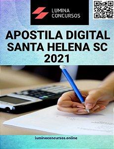 Apostila PREFEITURA DE SANTA HELENA SC 2021 Professor de Artes