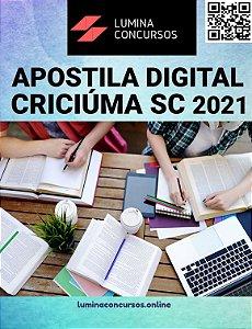 Apostila CÂMARA CRICIÚMA SC 2021 Auditor Contábil