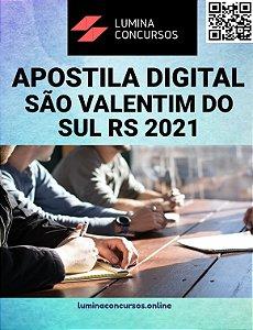 Apostila PREFEITURA DE SÃO VALENTIM DO SUL RS 2021 Nutricionista