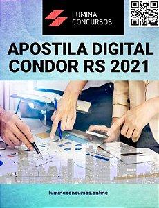 Apostila PREFEITURA DE CONDOR RS 2021 Médico Veterinário