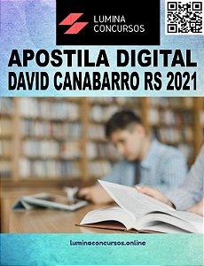 Apostila PREFEITURA DE DAVID CANABARRO RS 2021 Secretário de Escola