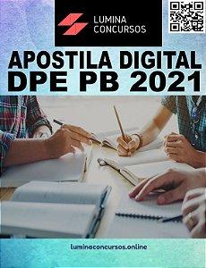 Apostila DPE PB 2021 Assistente Jurídico