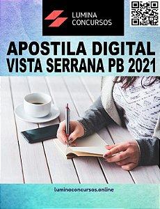 Apostila PREFEITURA DE VISTA SERRANA PB 2021 Fiscal de Tributos