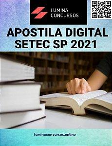 Apostila SETEC SP 2021 Agente administrativo