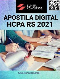 Apostila HCPA RS 2021 Enfermeiro I  (Unidade de Centro Cirúrgico, Sala de Recuperação PósAnestésica, Centro Cirúrgico Ambulatorial e/ou Centro de Material e Esterilização)