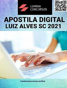Apostila PREFEITURA DE LUIZ ALVES SC 2021 Farmacêutico/SMS