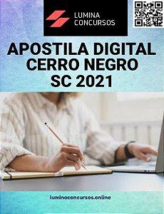 Apostila PREFEITURA DE CERRO NEGRO SC 2021 Professor de Artes