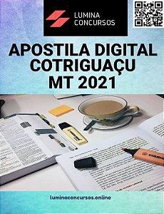 Apostila PREFEITURA DE COTRIGUAÇU MT 2021 Engenheiro Civil