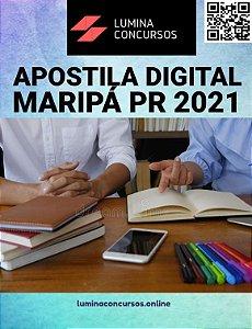 Apostila PREFEITURA DE MARIPÁ PR 2021 Nutricionista