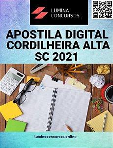 Apostila PREFEITURA DE CORDILHEIRA ALTA SC 2021 Professor de Educação Infantil