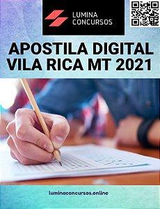 Apostila PREFEITURA DE VILA RICA MT 2021 Fiscal Sanitário
