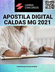 Apostila PREFEITURA DE CALDAS MG 2021 Fiscal de Posturas e Obras