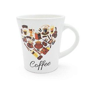 Caneca em Cerâmica Estampada 300ml - Love Coffee
