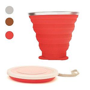 Copo em Silicone Retrátil Ecológico - Disc Cup