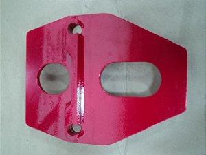 Placa de Aço - modelo B3 (Instalação de Braçadeiras)