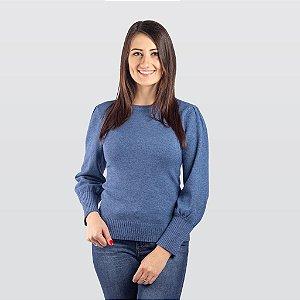 Blusão Modal Feminino Azul