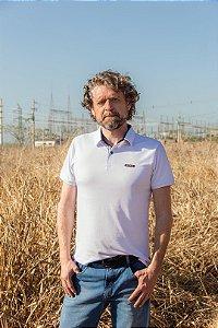 Camiseta Polo manga curta masculina Sallo