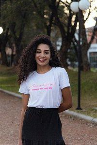T-shirt Feminina Manga Curta Branca