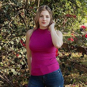 Blusa de Ribana Feminina Hoje Collection Rosa Pink