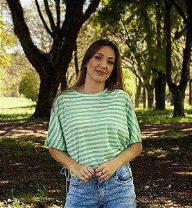 Blusa Feminina Listrada Verde