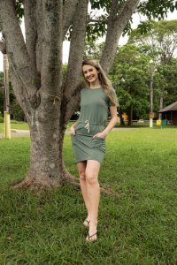 Vestido Feminino Hoje Collection Verde