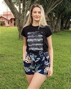 T-shirt Feminina Hoje Collection Preta