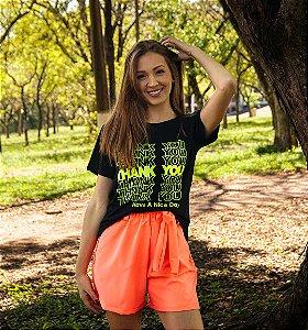 Shorts Feminino Laranja Neon