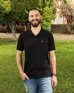 Camiseta Polo Masculina Preta