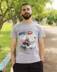 Camiseta Masculina Mescla Popeye