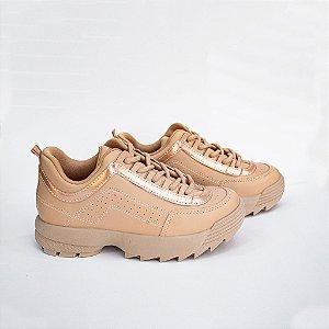 Tênis Feminino Sneaker Cor Nude Ramarim