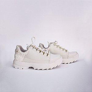 Tênis Feminino Sneaker Cor Névoa/Branco Ramarim