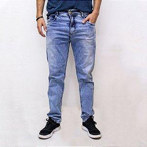 Calça Jeans Masculina Com Elastano e Puídos