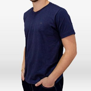 Camiseta Masculina Manga Curta Cor Marinho