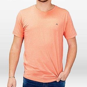 Camiseta Masculina Manga Curta Cor Mescla laranja