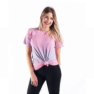 Camiseta Tie Dye Feminina Manga Curta