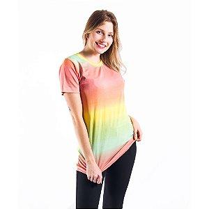 Camiseta Tie dye Manga Curta Feminina