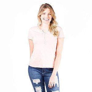 T-shirt Feminina Algodão Rosa