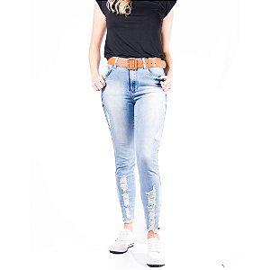 Calça Capri Jeans Feminina