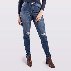 Calça Cigarrete Jeans Feminina Indulto Skinny