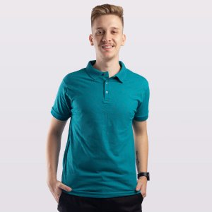 Camiseta Polo Masculina Aplicatto Estampada