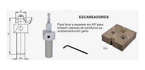 ESCAREADORES 22A 3mm - (RADIX)