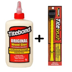 Kit Cola Titebond 255G + Pincel De Silicone Titebrush