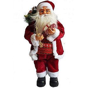 boneco papai noel roupa veludo 60 cm
